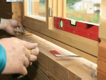 Установка деревянных окон - технология монтажа.